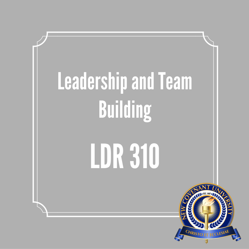 LDR 310 : Leadership and Team Building (BMN) | New Covenant University